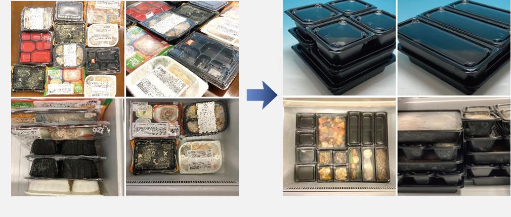 家庭用冷凍庫の容器の課題解決
